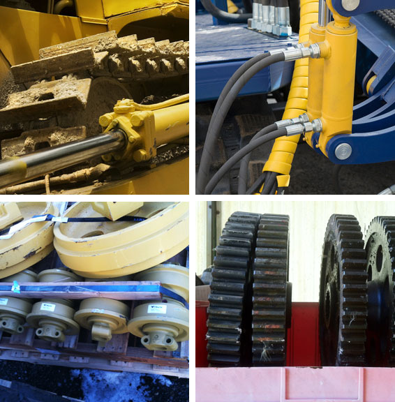 construction equipment parts new rebuilt