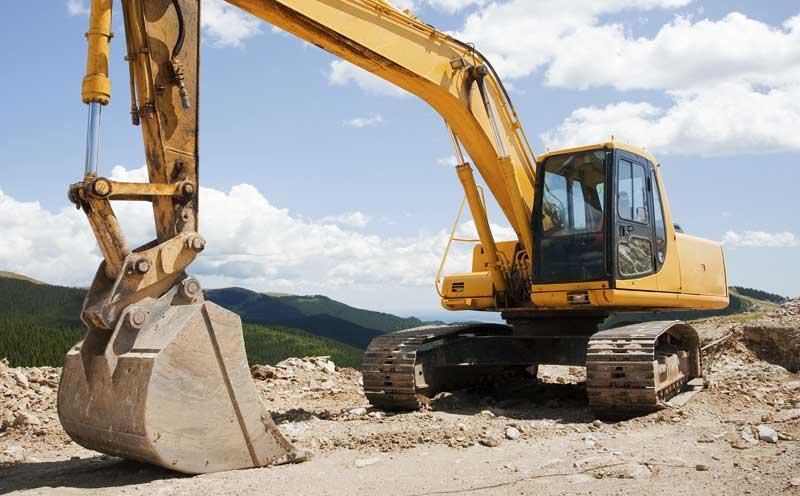 Excavator parts equipment